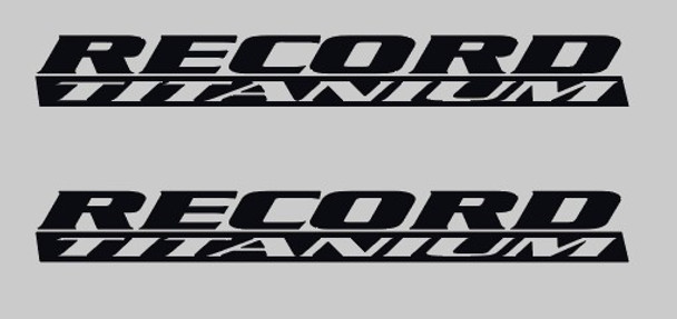 Campagnolo Record Titanium Brake Lever Decals - black on clear 1 Pair