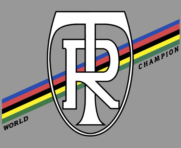 Ritchey Head Badge World Champion Decal with Olympic Stripes