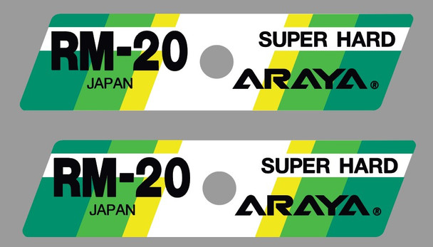Araya RM-20 SUPER HARD Bicycle Rim Decals - 1 Pair