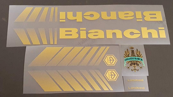 Bianchi Limited Bicycle Decal Set with Gradient Chevrons