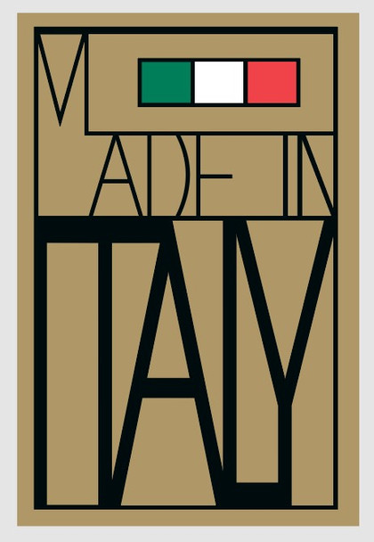 Bianchi Made in Italy Decals - Gold 631 Background, Black outline, Green, White, Intense Red flag - 1 Pair