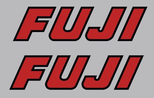 Fuji BMX Seat Stay Decals - 1 Pair - Choose Colors