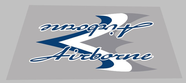 Airborne Zeppelin Seat Tube Wrap Decal - 1 Piece