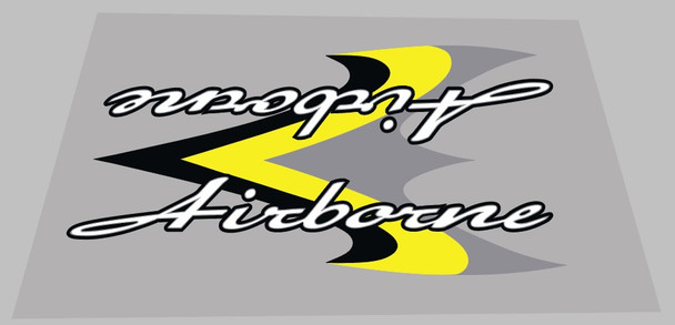 Airborne Valkyrie Seat Tube Wrap Decal - 1 Piece