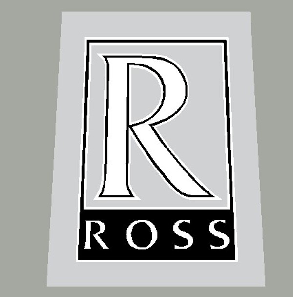 Ross Bicycle Head Badge  with outline/inline Decal - Choose Colors