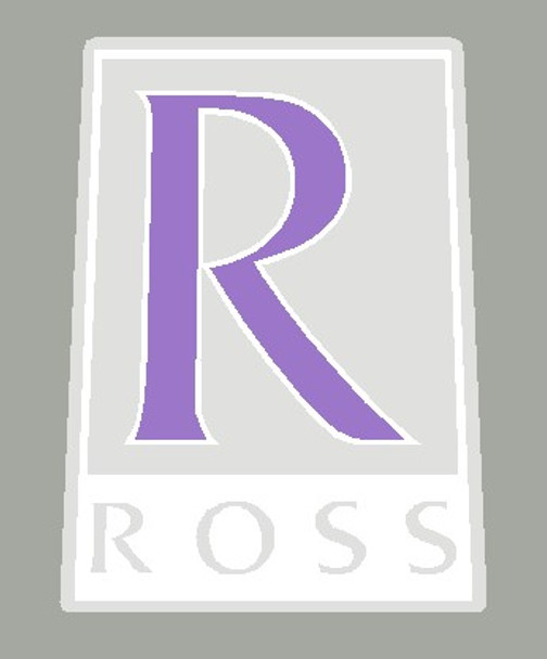 Ross Bicycle Head Badge  with letter outline - Choose Colors