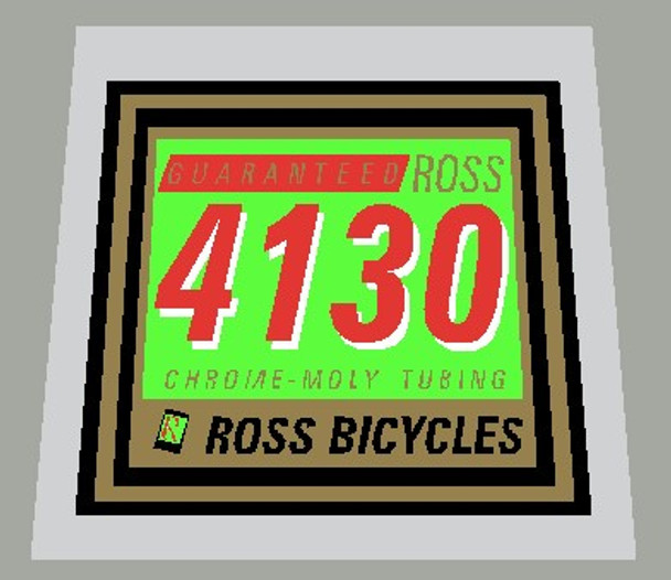 Ross 4130 Guaranteed Chrome - Moly Tubing Frame Decal - 1 Piece