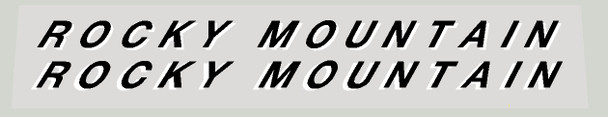 Rocky Mountain Left and Right Down Tube Decals - 1 Pair - Choice of Colors