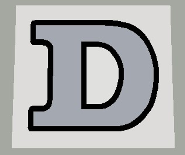"""Davidson """"D"""" Head Badge Decal - Choice of Colors"""