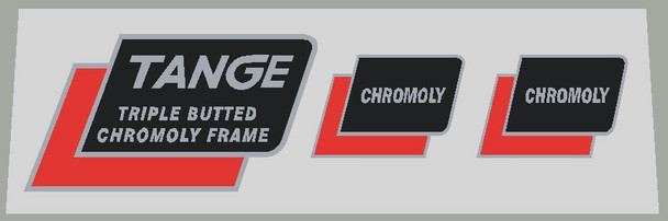 Univega Tange Chromoly Triple Tubing and Fork Decals - Choose Colors