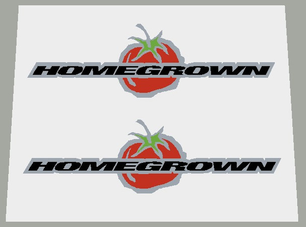 Schwinn Homegrown Top Tube Decals on Brushed Silver - 1 Pair