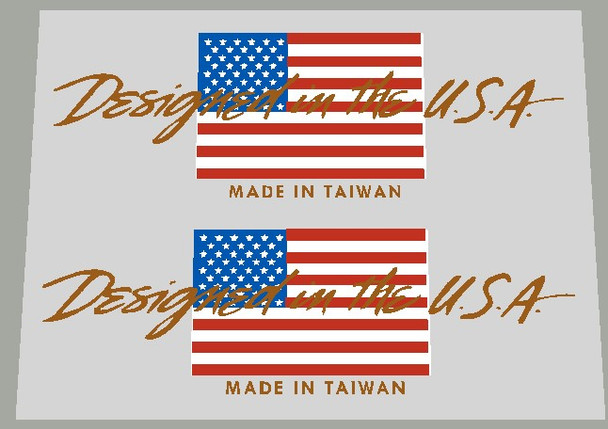 Specialized Designed in the USA Flag Decals - 1 Pair