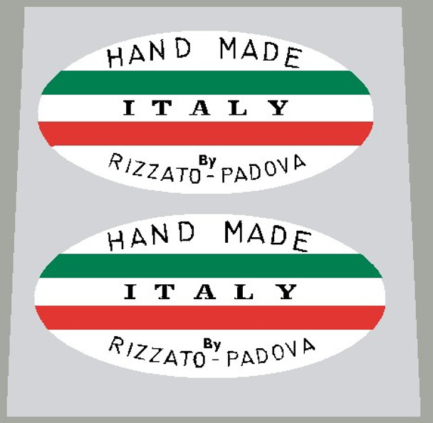 Hand Made Italy By Rizzato-Padova decals - 1 Pair