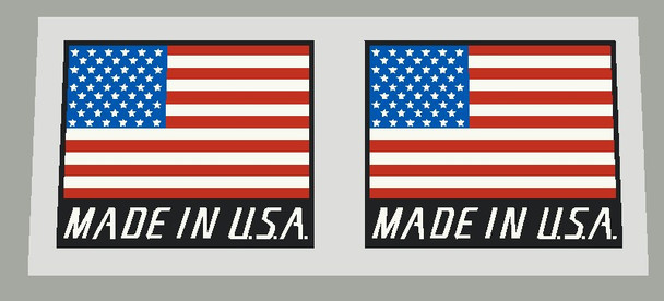 Specialized Made in the USA Flag Decals - 1 Pair