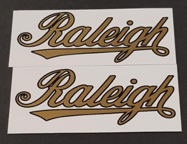 Raleigh Script Chain Stay Decals - 1 Pair