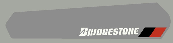 Bridgestone Chain Stay Protector with Black/Red marker Decal - Choose Letter Color