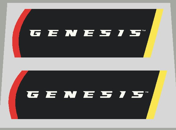 Gary Fisher Chain Stay Genesis Decal - Black, Yellow, Red