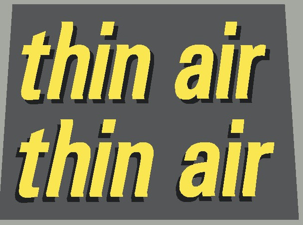 Rocky Mountain Thin Air Left and Right Top Tube Decals - 1 Pair - Choose Colors