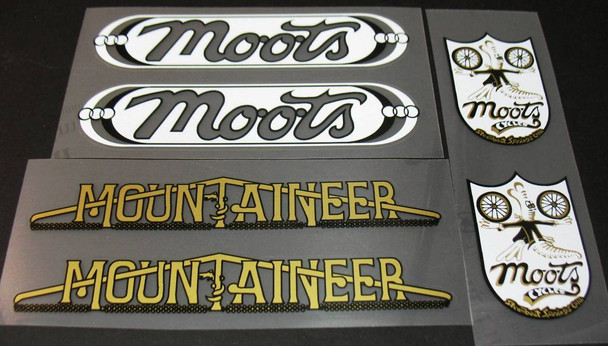 Moots Mountaineer Bicycle Decal Set