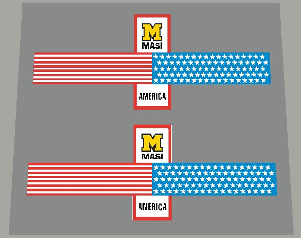 Masi America Stars and Stripes Seat Tube Bands Decals - 1 Pair