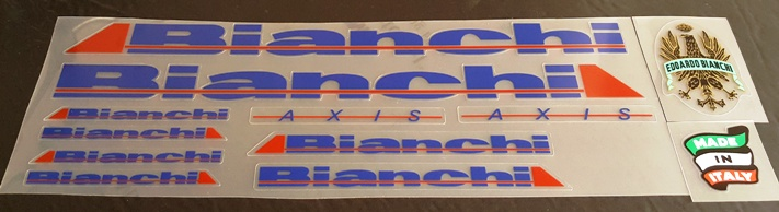 Bianchi Axis Bicycle Decal Set