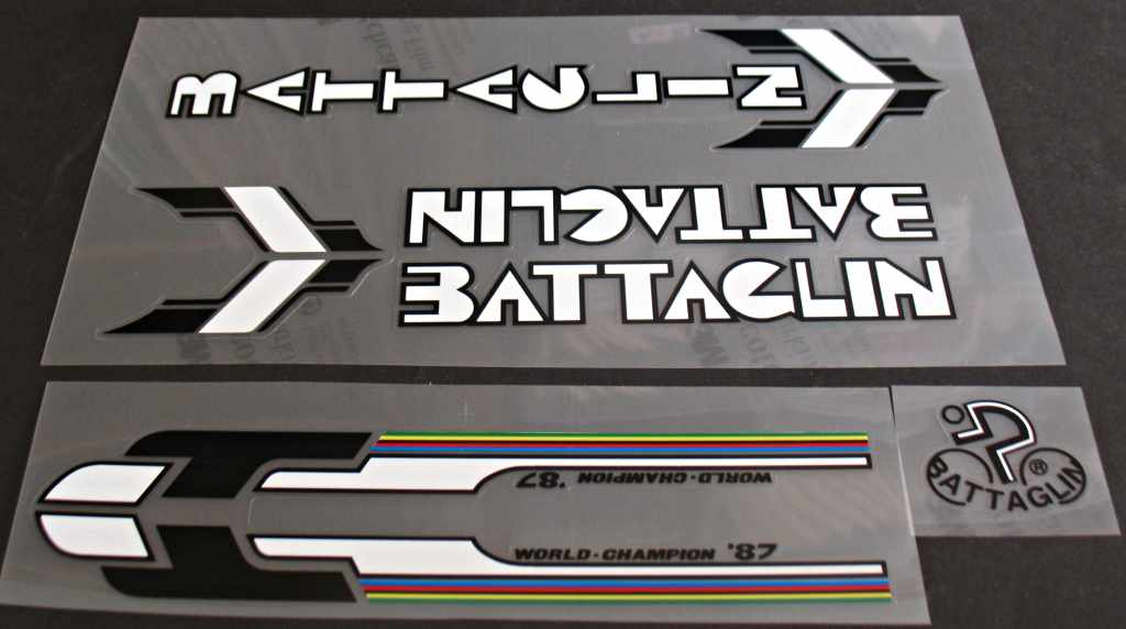 Battaglin Outrageous Bicycle Decal Set