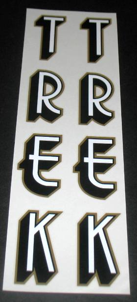 Trek Vertical Seat Tube Decal Set of 2 - With Color Options