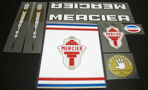 Mercier Mixte Bicycle Decal Set (sku 1130)