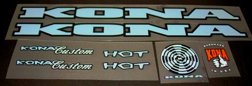 Kona Hot Bicycle Decal Set