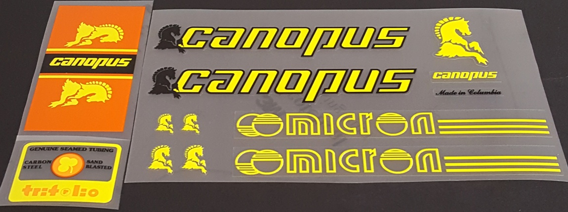 Canopus Micron Bicycle Decal Set