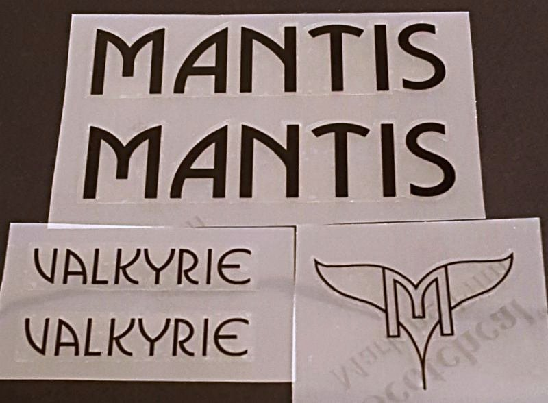 Mantis Valkyrie Bicycle Decal Set