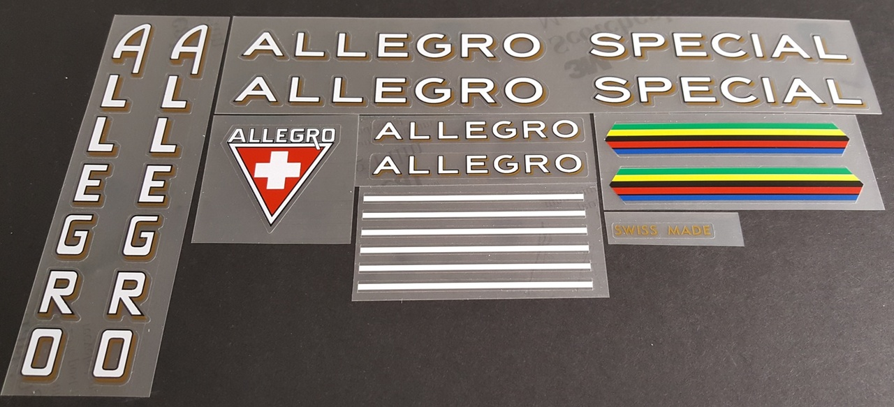 Allegro Special Bicycle Decal Set