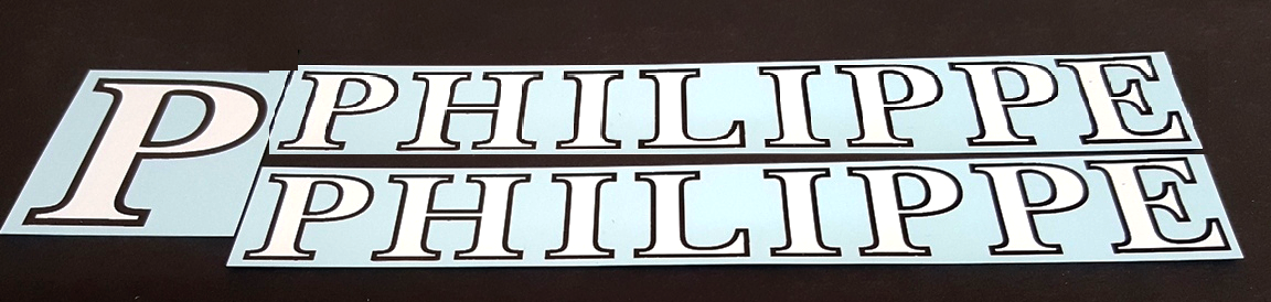 Philippe Bicycle Decal Set