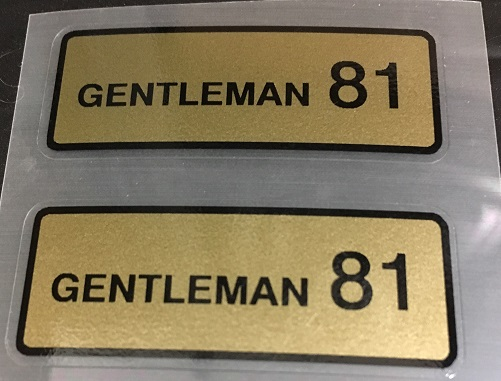 Super Competition Gentleman 81 Rim Decals