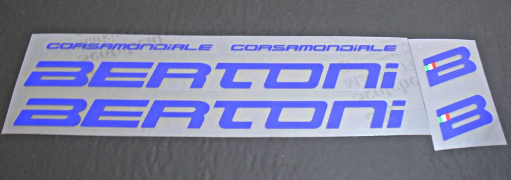 Bertoni Corsamondiale Bicycle Decal Set