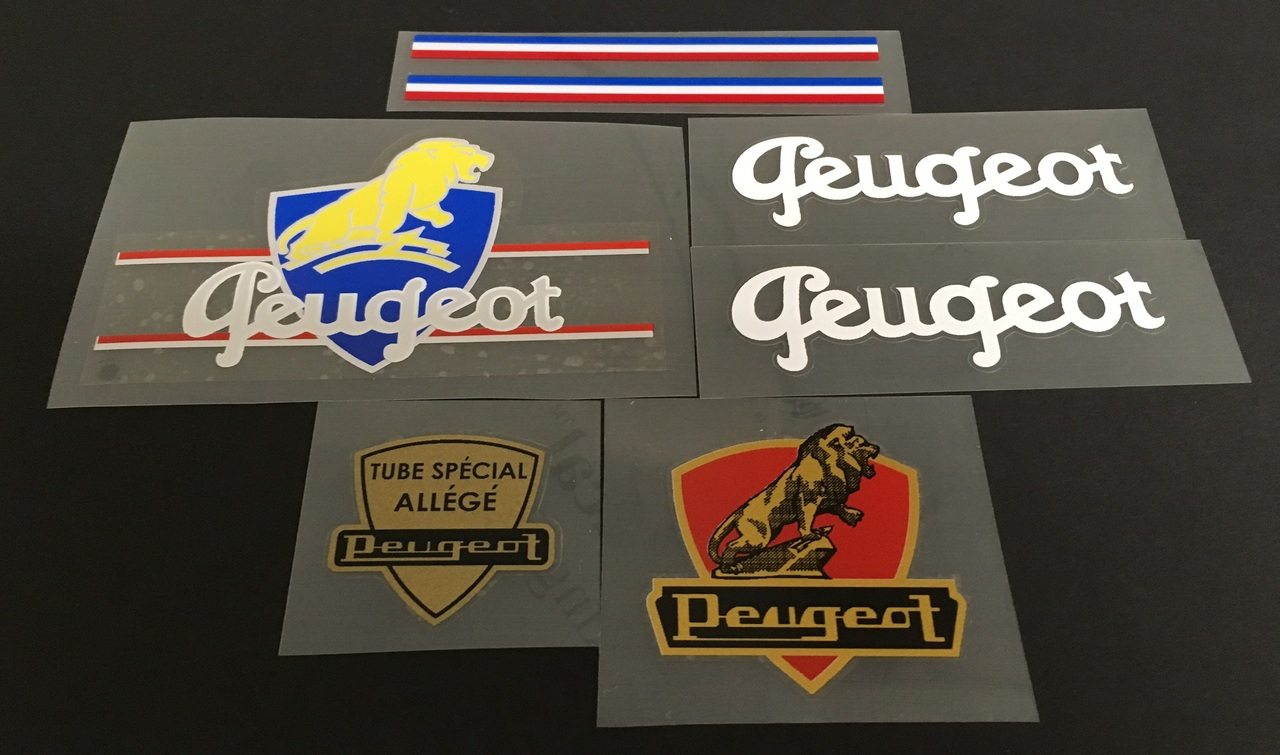 Early Peugeot Bicycle Decal Set