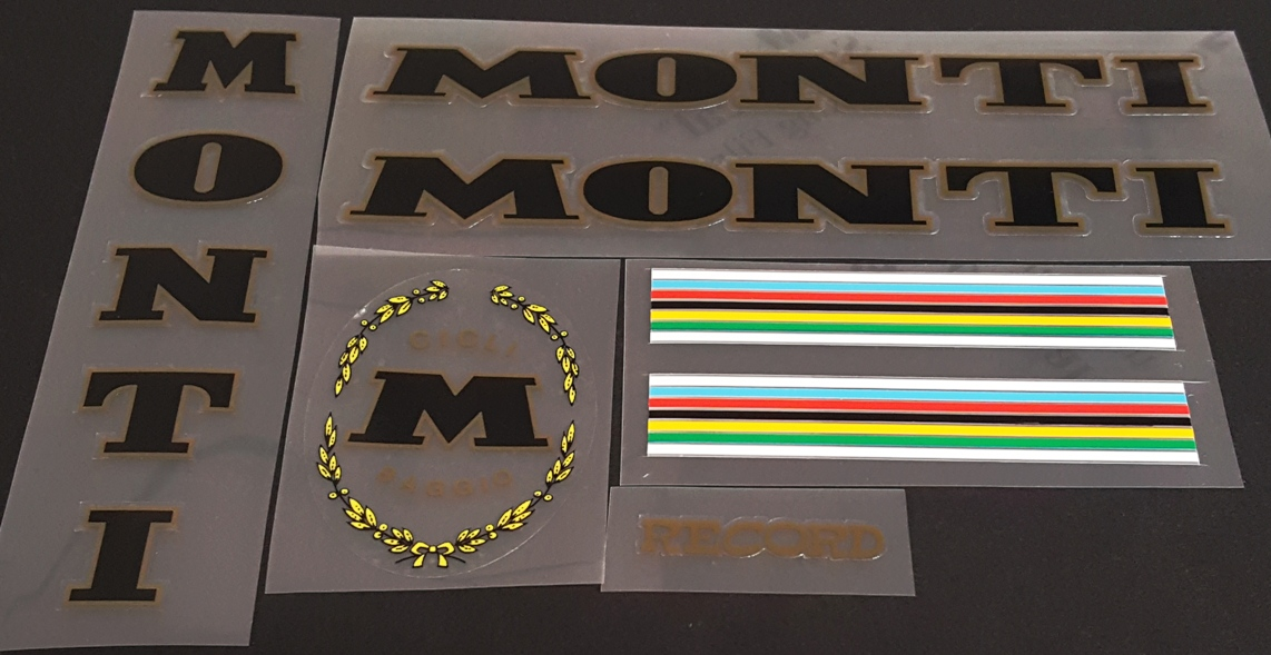 Monti Bicycle Decal Set