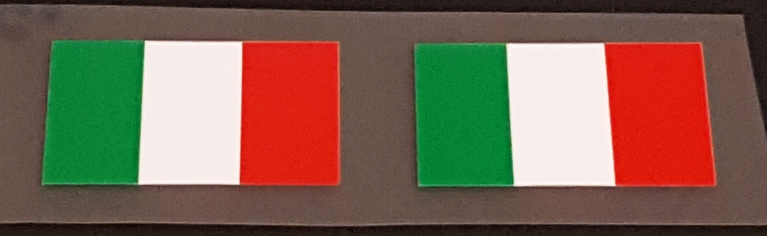 Made in Italy Flag Decals - 1 Pair