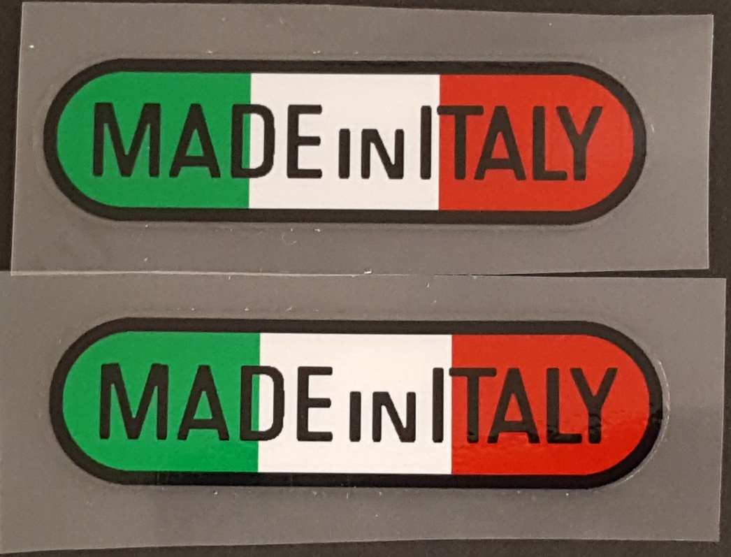 Made in Italy Bicycle Decals - Oblong - 1 Pair