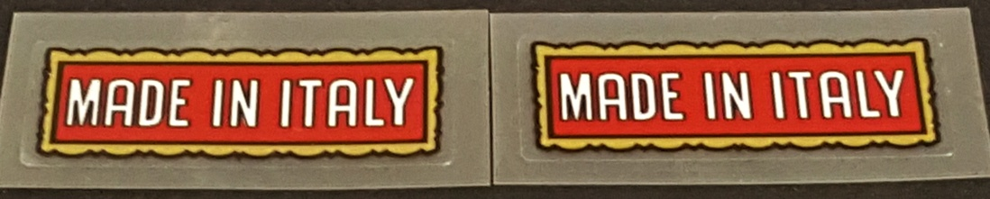 Made in Italy Decals - Gold Frame (1 Pair)