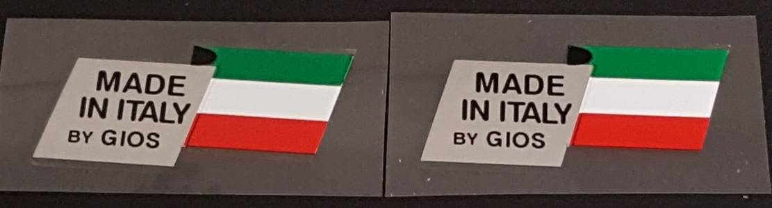 Made in Italy Decals - Gios - 1 Pair
