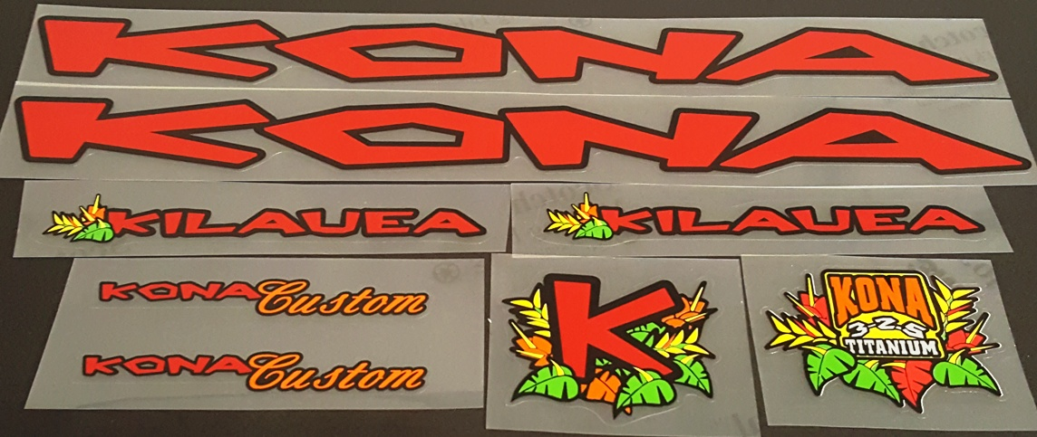 Kona 1997 Bicycle Decal Set