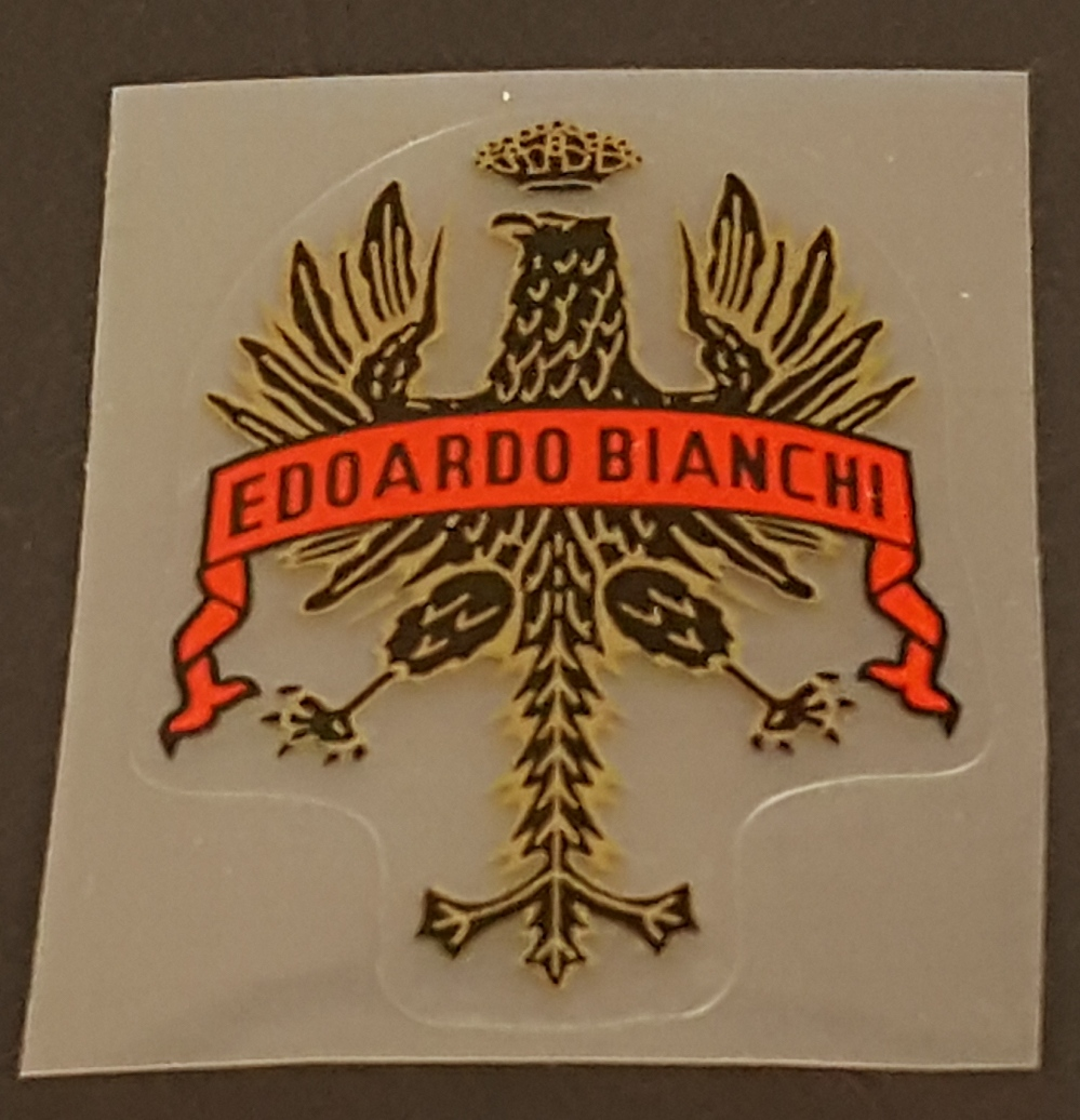 Bianchi Head Badge Decal - Long Tail (Choose Banner Color)