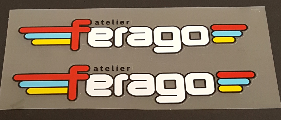 Ferago Bicycle Down Tube Decals