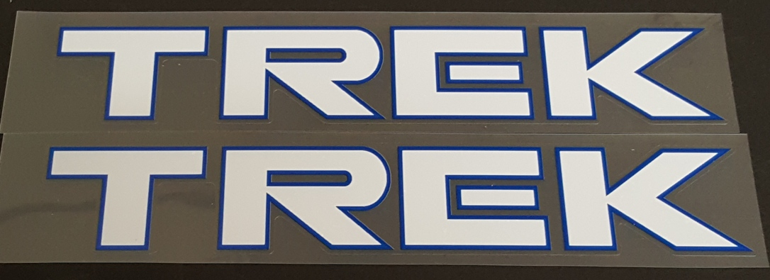 Trek 1990s Down Tube Decals - Large Font - 1 Pair - Choice of Colors