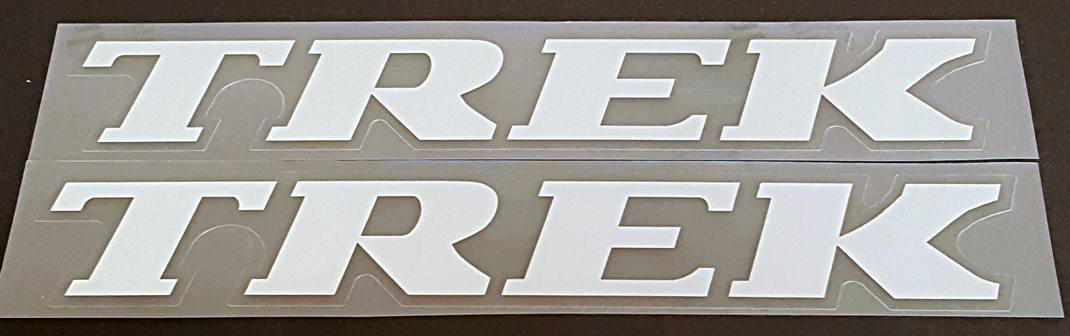Trek Late 1990s Down Tube Decals - 1 Pair - Choice of Colors and Size