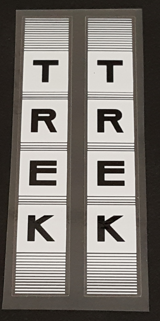 Trek 1980s Stay Decals - 1 Pair - Choice of Colors