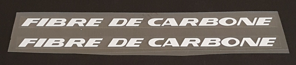 Peugeot  Fibre de Carbone Top Tube Decals - 1 Pair