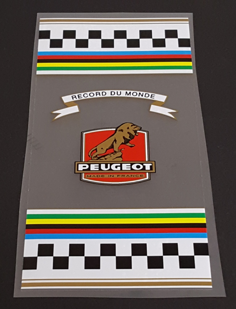 Peugeot  1960s-70s Clear Seat Tube  Wrap Decal - Men's