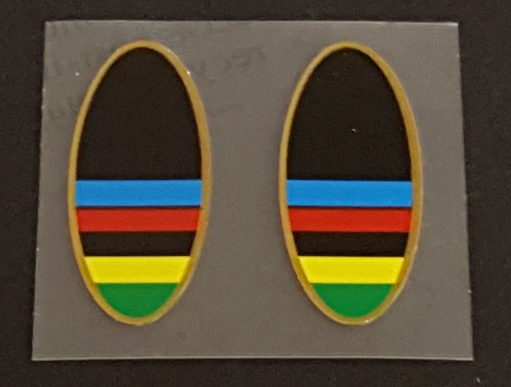 Peugeot Olympic Stripe Oval Stay Decals  - 1 Pair